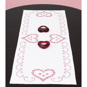 Stamped Valentine's Day Table Runner/Scarf