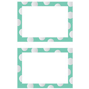 Mrs Grossman Mrs. Grossman's Small Labels - 12/Pkg. - 2.5'X3.75'-Mint Green Dots Wholesale Bulk