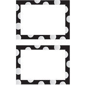 Mrs Grossman Mrs. Grossman's Small Labels - 12/Pkg. - 2.5'X3.75'-Black & Silver Dots Wholesale Bulk