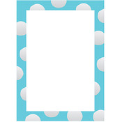 Mrs Grossman Mrs. Grossman's Large Labels - 6/Pkg. - 3.75'X5.1875'-Aqua Dots Wholesale Bulk
