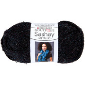 Red Heart Boutique Sashay Metallic Yarn-Onyx Wholesale Bulk