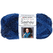 Coats Yarn Red Heart Boutique Sashay Metallic Yarn-Sapphire Wholesale Bulk