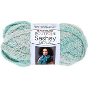 Red Heart Boutique Sashay Metallic Yarn-Icy Mint Wholesale Bulk