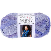 Red Heart Boutique Sashay Metallic Yarn-Icy Peri Wholesale Bulk