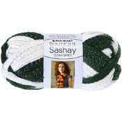 Coats Yarn Sashay Team Spirit Yarn-Green/White Wholesale Bulk