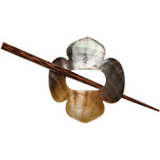 Shell Shawl Pin, Clover
