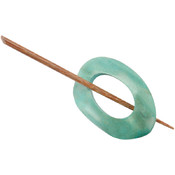 Wood Shawl Pin-Sage