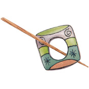 Wood Shawl Pin-Painted