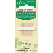 Clover Gold Eye Quilting Between Needles-Size 10 15/Pkg Wholesale Bulk