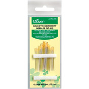 Clover Gold Eye Embroidery Needles-Size 3/9 16/Pkg Wholesale Bulk