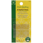 Dritz Quilting Applique Sharps Needles-Size 9 20/P Wholesale Bulk