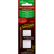 Clover Black Gold Quilting Needles-Size 12 6/Pkg Wholesale Bulk