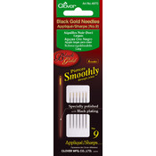 Clover Black Gold Applique/Sharps Needles-Size 9 6/Pkg Wholesale Bulk