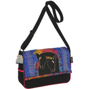 Laurel Burch Messenger Bag Zipper Top-Embracing Horses Wholesale Bulk