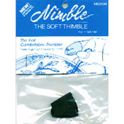 Leather Nimble Thimble With Metal Tip-Medium