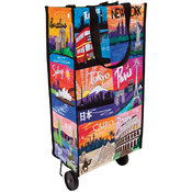 Quilt Blocks Around The World Eco Wheelie Tote