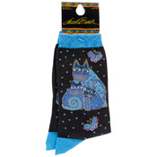 K Bell Laurel Burch Socks-Indigo Cats Wholesale Bulk