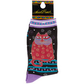 K Bell Laurel Burch Socks-Crimson Cat Wholesale Bulk