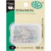 Dritz Glass Head Pins-Size 20 100/Pkg Wholesale Bulk
