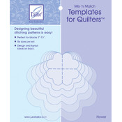 Mix&#39;n Match Templates For Quilters 6/Pkg-Flower