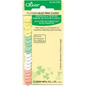 Clover Flower Head Pins-20/Pkg Wholesale Bulk