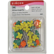 Decorative Straight Pins-100/Pkg