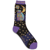 K Bell Laurel Burch Socks-Celestial Cat-Black Wholesale Bulk