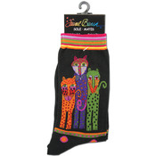 K Bell Laurel Burch Socks-Polka Dot Leopard-Black Wholesale Bulk