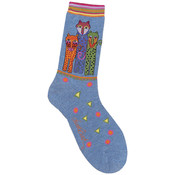 K Bell Laurel Burch Socks-Polka Dot Leopard-Denim Wholesale Bulk