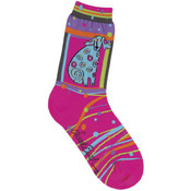K Bell Laurel Burch Socks-Matisse-Magenta Wholesale Bulk