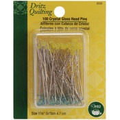 Dritz Quilting Crystal Glass Head Pins-1-7/8' 100/ Wholesale Bulk