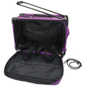 TUTTO Machine On Wheels Case 20&quot;X13&quot;X9&quot;-Purple