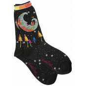 K Bell Laurel Burch Socks-Mystic Moon -Black Wholesale Bulk