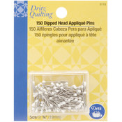 Dritz Quilting White Dipped Head Applique Pins-3/4 Wholesale Bulk