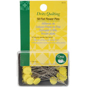 Dritz Quilting Flat Flower Pins -2' 50/Pkg Wholesale Bulk