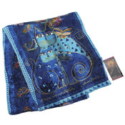 Laurel Burch Scarves-Indigo Cats