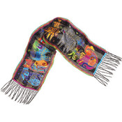 Laurel Burch Scarves-Dogs And Doggies
