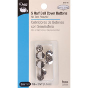 "Half-Ball Cover Buttons-Size 18 7/16"" 5/Pkg"