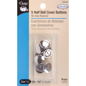 Dritz Half-Ball Cover Buttons-Size 24 5/8' 5/Pkg Wholesale Bulk