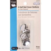 Dritz Half-Ball Cover Buttons-Size 30 3/4' 4/Pkg Wholesale Bulk