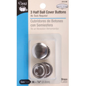 Dritz Half-Ball Cover Buttons-Size 36 7/8' 3/Pkg Wholesale Bulk