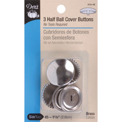 Dritz Half-Ball Cover Buttons-Size 45 1-1/8' 3/Pkg Wholesale Bulk