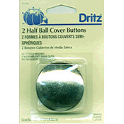 Dritz Half-Ball Cover Buttons-Size 75 1-7/8' 2/Pkg Wholesale Bulk