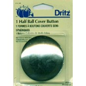 Dritz Half-Ball Cover Buttons-Size 100 2-1/2' 1 Pkg Wholesale Bulk