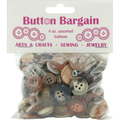 Button Bargain 4 Ounces-Naturals