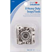 "Heavy Duty Snap Kit 5/8"" 8/Pkg-Nickel"