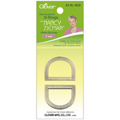 Nancy Zieman&#39;s Bag Hardware D-Rings 1&quot; 2/Pkg-Satin