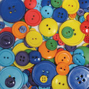 Favorite Findings Big Bag Of Buttons-Rainbow 3.5oz
