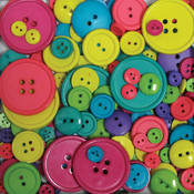 Favorite Findings Big Bag Of Buttons-Carnival 3.5o