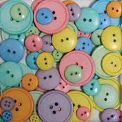 Favorite Findings Big Bag Of Buttons-Happy 3.5oz